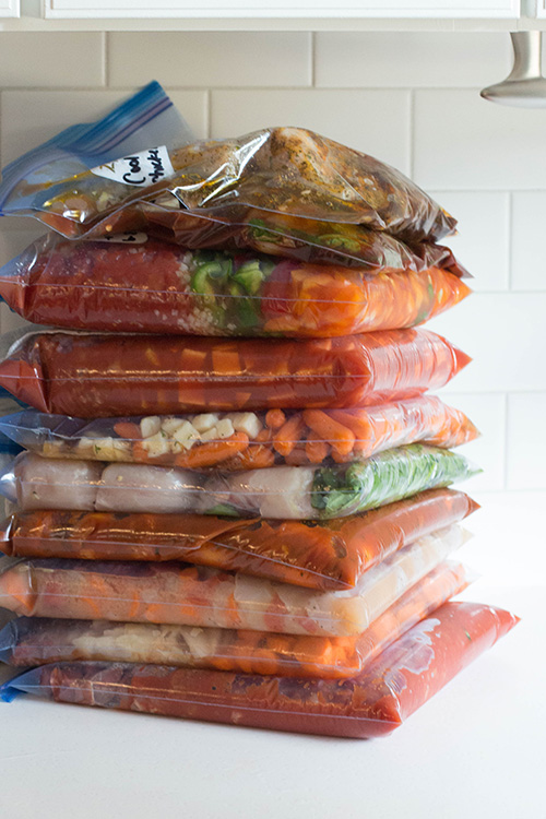 10 Whole30 Crockpot Freezer Meals in 90 Minutes