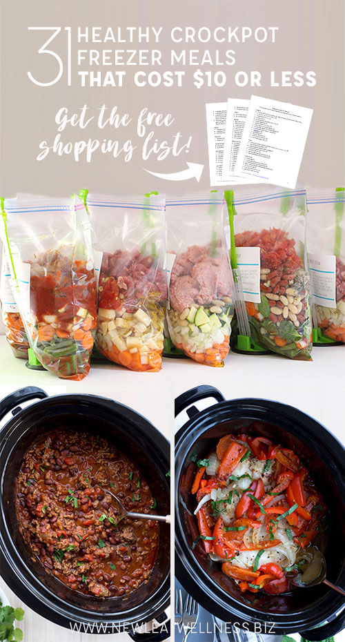 31 Healthy Crockpot Freezer Meals That Cost $10 or Less