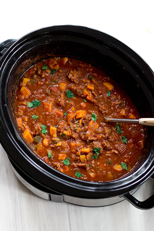 Whole30 Compliant Beef and Sweet Potato Chili Recipe