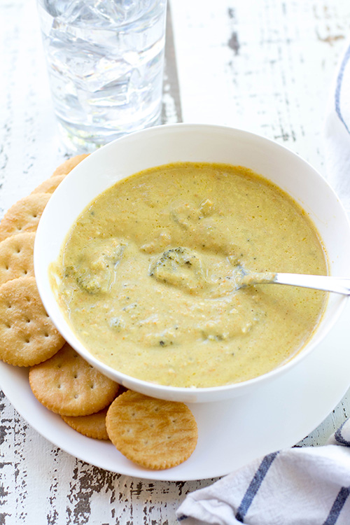 Easy And Healthy Crockpot Broccoli Cheddar Soup Panera Copycat New Leaf Wellness