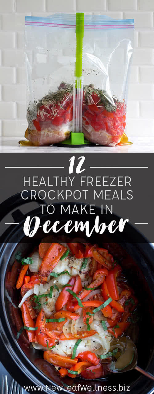 12 Healthy Freezer Crockpot Meals to Make in December