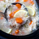 Crockpot Lemon Chicken and Rice Soup Recipe