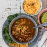 Simple Crockpot Taco Soup Recipe