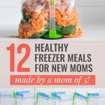 12 Healthy Freezer Meals for New Moms (made by a mom of five!)
