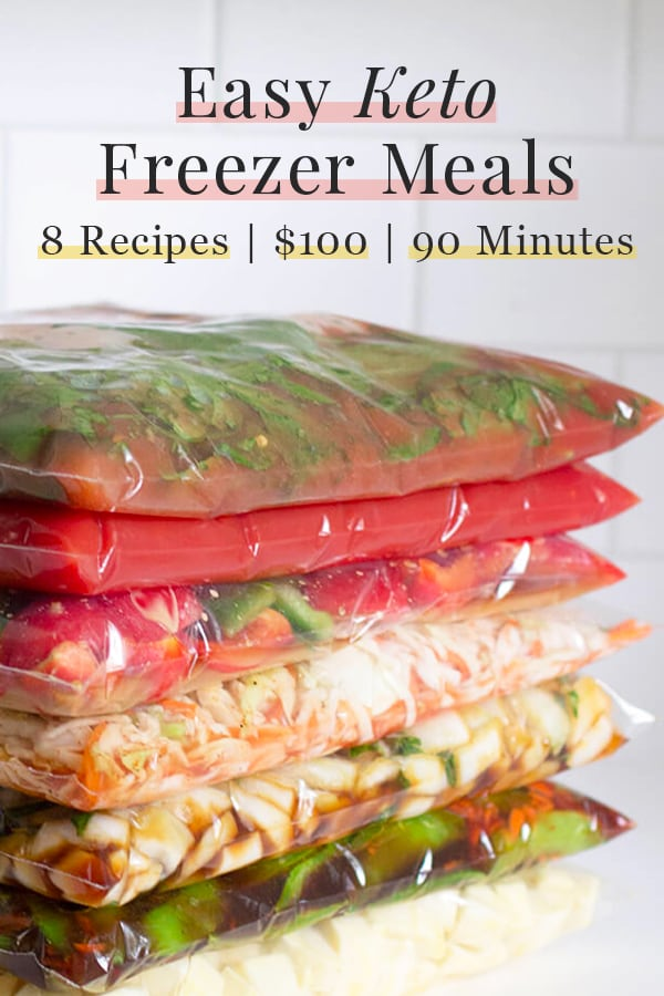 Easy Keto Freezer Meals 8 Recipes 90 Minutes 100
