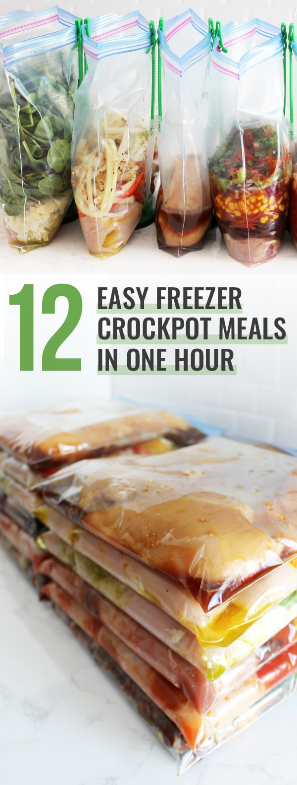 12 Easy Freezer Crockpot Meals in One Hour