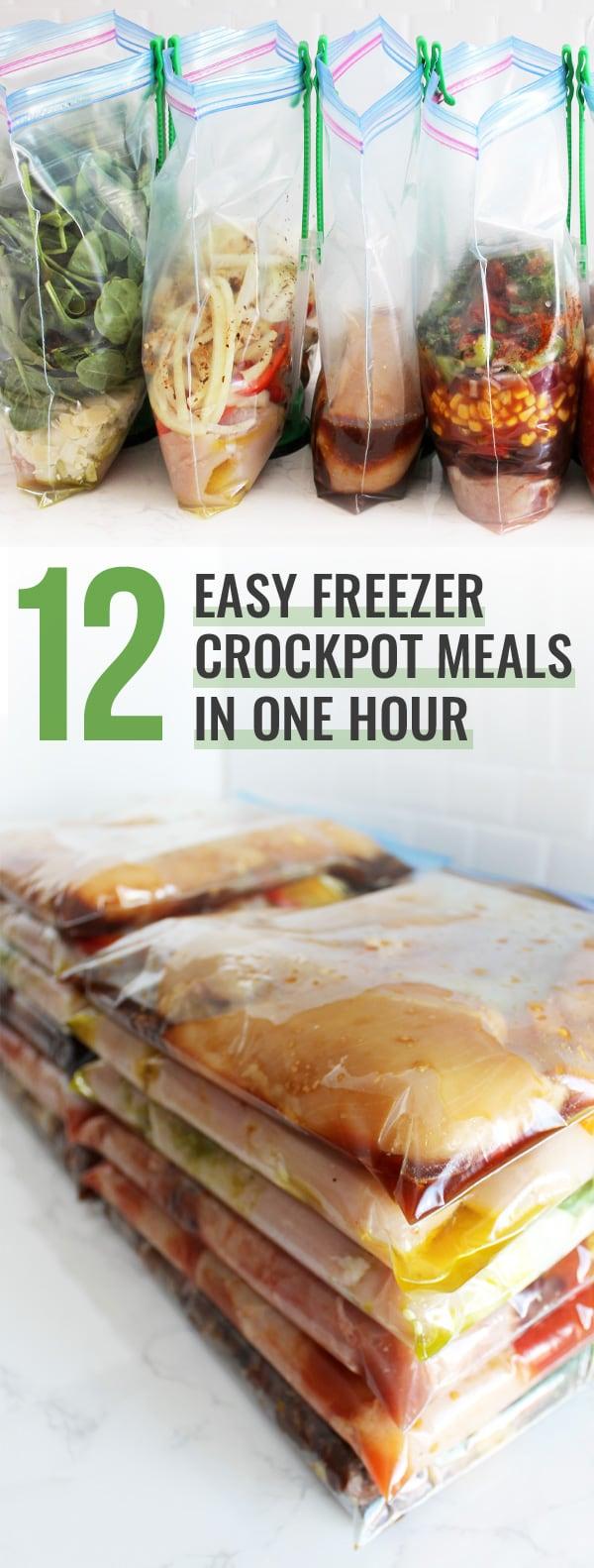 12 Easy Freezer Crockpot Meals in One Hour