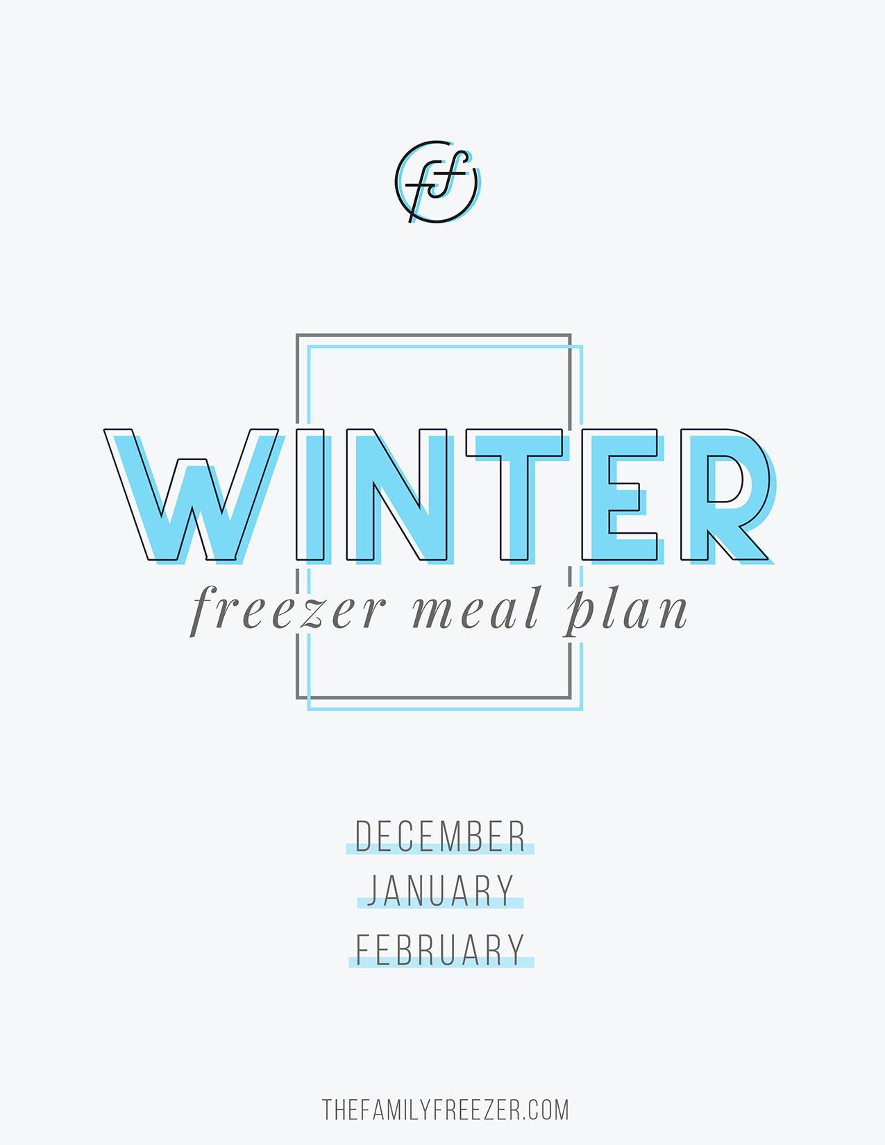 Winter Freezer Meal Plan