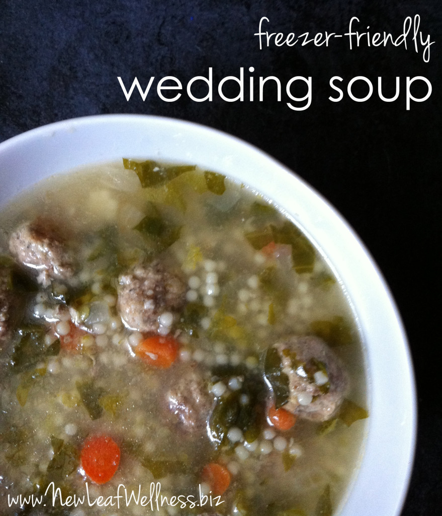 freezer friendly italian wedding soup
